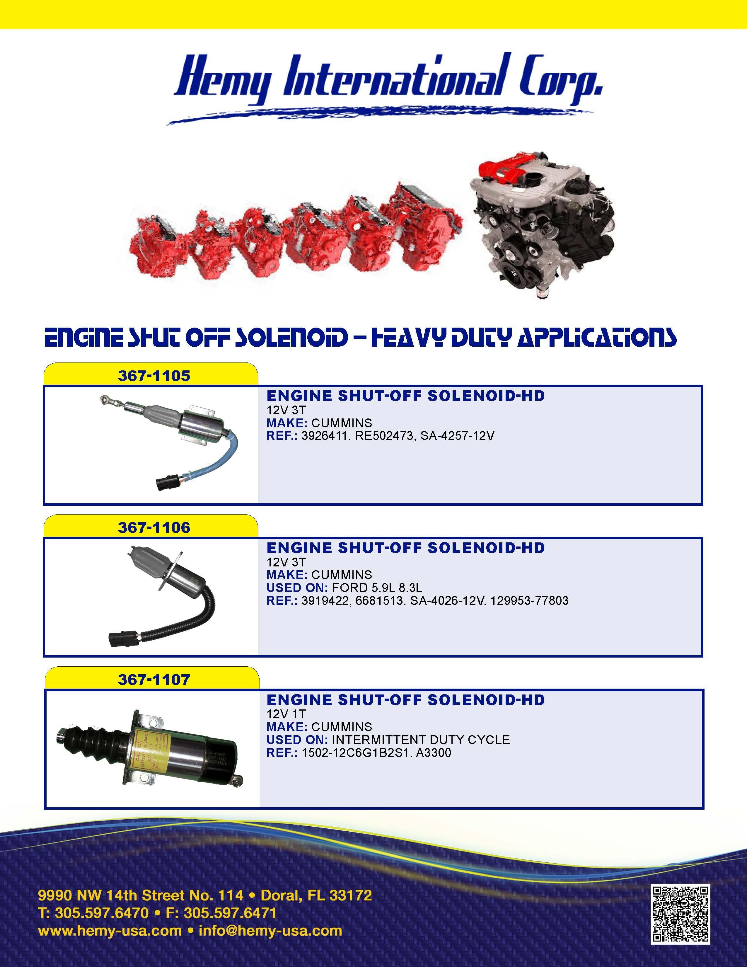 Hemy-Engine Shut-Off Solenoid 2017